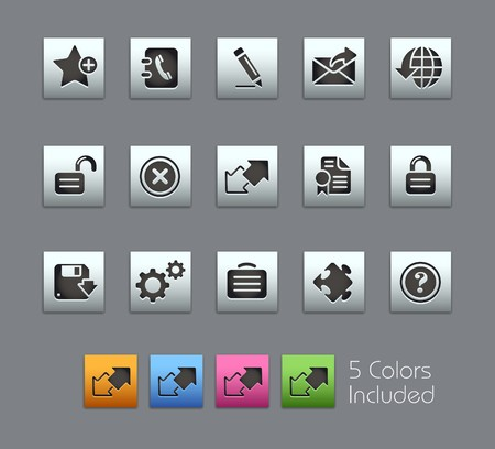 favorite colour: Web 2.0  It includes 5 colors in different layers.