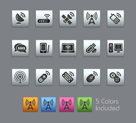 Wireless & Communications  It includes 5 colors in different layers.  Vector