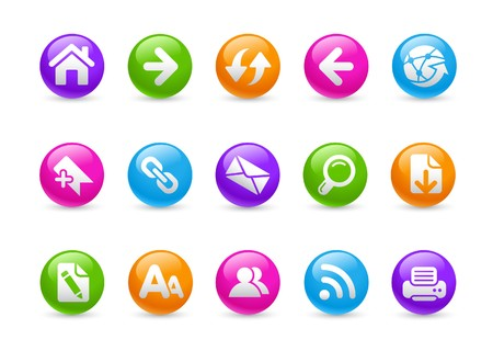 Web Navigation // Rainbow Series Stock Vector - 7396085