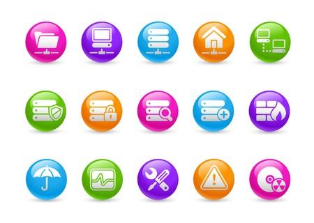Network & Server  Rainbow Series Vector