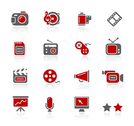web icons communication: Multimedia
