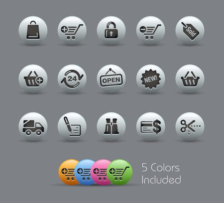 icons site search: Shopping   Illustration