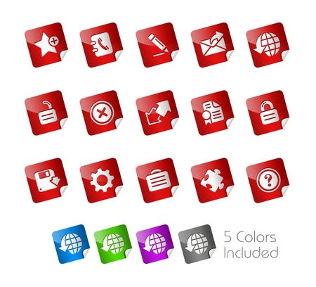 Web icons Stock Vector - 8708331