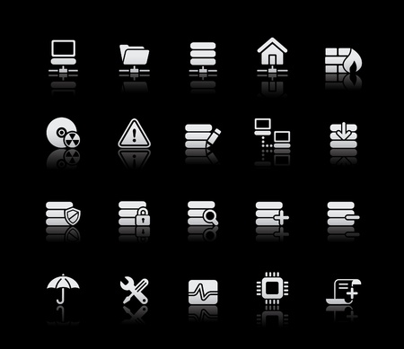 padlock icon: Network & Server