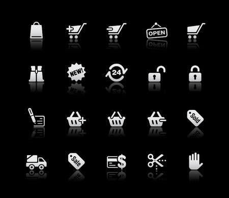 ecommerce icons: Shopping   Illustration