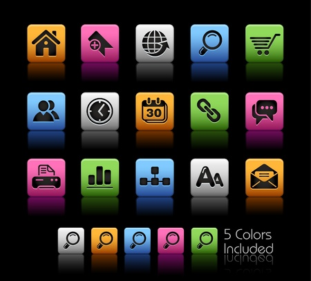 Web Site & Internet / The vector file includes 5 colors in different layers. Stock Vector - 8976378