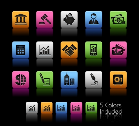 Business  & Finance  The file includes 5 colors in different layers. Vector