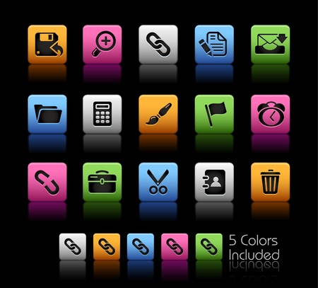 Interface  The file includes 5 colors in different layers. Vector