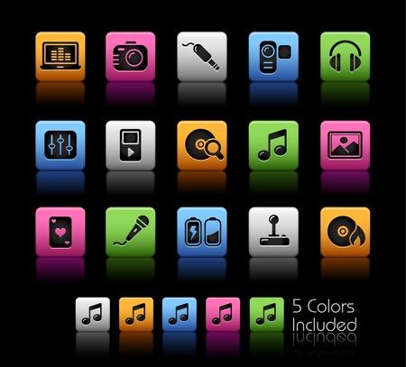 Media & Entertainment / le fichier comprend cinq couleurs dans différentes couches.