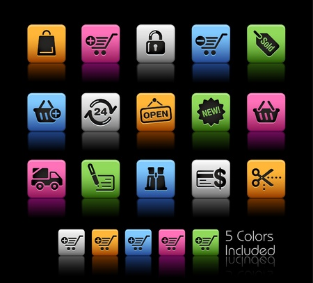 Shopping   The file includes 5 colors in different layers. Vector