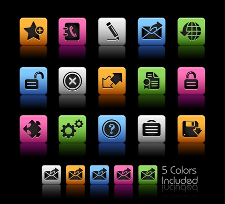 The file includes 5 colors in different layers. Banco de Imagens - 9061353