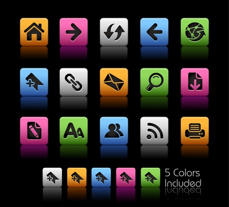 Web Navigation  / The file includes 5 colors in different layers. Stock Vector - 9061351