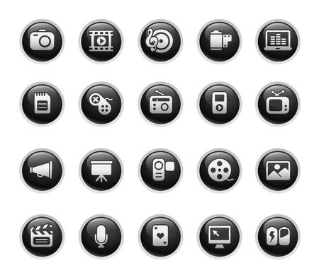 megaphone icon: Multimedia  Black Label Series