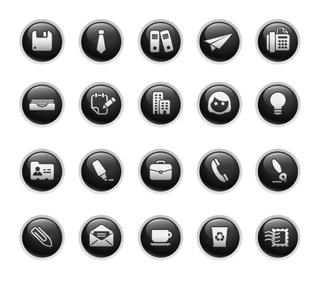 web icons communication: Office & Business  Black Label Series
