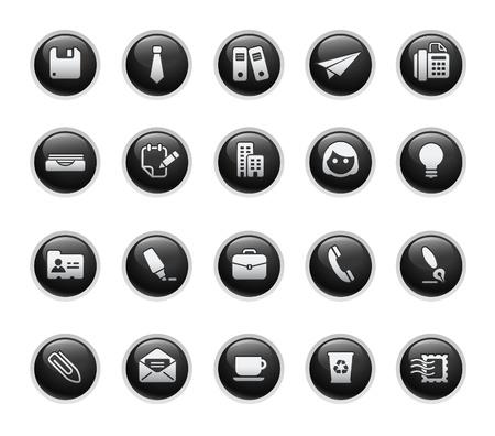icono fax: Office & empresa  Black Label Series