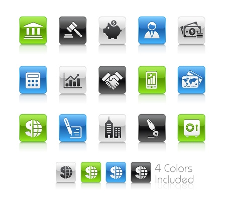 Business  & Finance  The file includes 4 colors in different layers. Vector