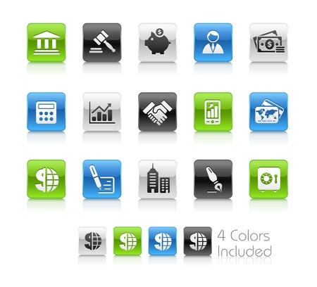 Negocios & Finanzas el archivo incluye 4 colores en capas diferentes. Ilustración de vector