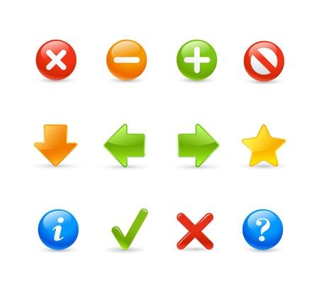Gel Icon Set -  2   Web Navigation Vector
