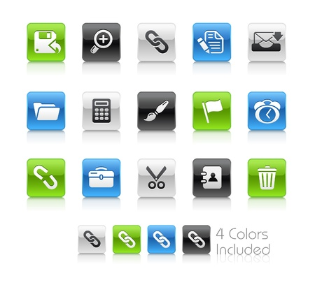 e work: Interface  The file includes 4 colors in different layers. Illustration