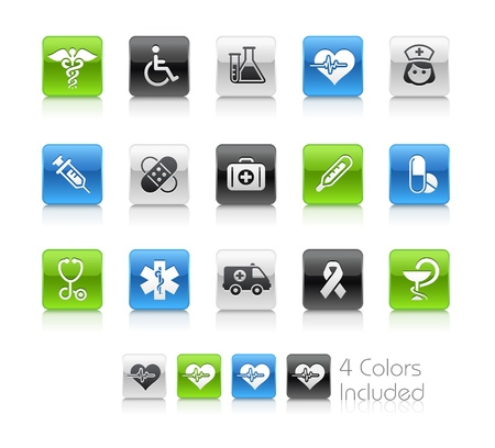 medicine icon: Medical   The file includes 4 colors in different layers. Illustration
