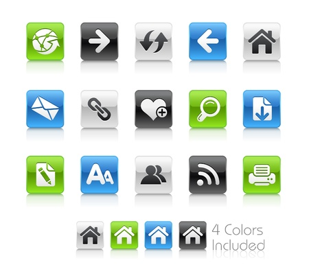 icons site search: Web Navigation   The file includes 4 colors in different layers.