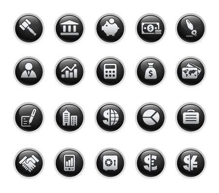 cajas fuertes: Negocios & Finanzas  negro serie de etiqueta