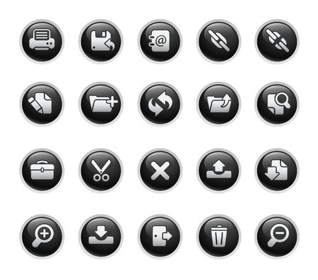 refrescarse: Interfaz  negro serie de etiqueta