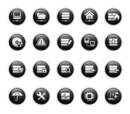 disk drive: Network & Server  Black Label Series Illustration