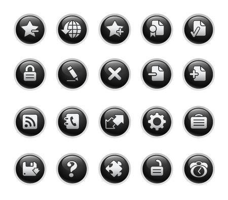 Web 2.0 / Black Label Series Stock Vector - 9141851