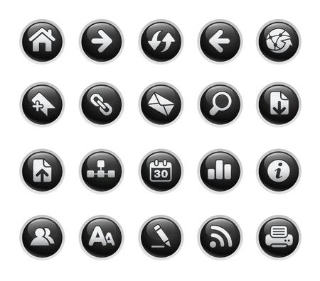 Web Navigation  Black Label Series Vector