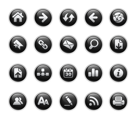 e commerce icon: Web Navigation  Black Label Series