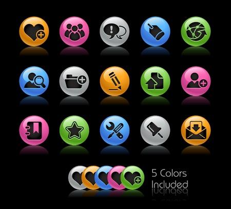 uploading: Blog & Internet  il file vettoriale comprende 5 colori in diversi strati.