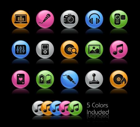 quemadura: Media & Entertainment el archivo incluye 5 colores en capas diferentes.