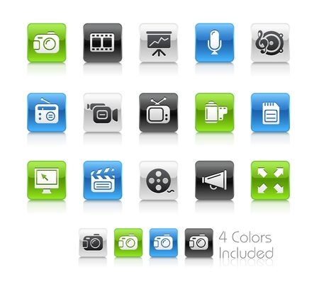 vcr: Multimedia  The vector file includes 4 colors in different layers.