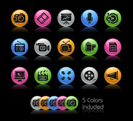 camera icon: Multimedia  The vector file includes 5 colors in different layers.