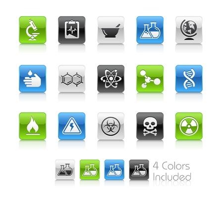biologia molecular: Ciencia el archivo vectorial incluye 4 colores en capas diferentes. Vectores