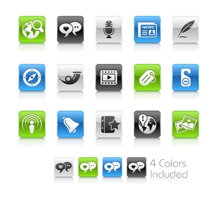 Social Media / The vector file includes 4 colors in different layers. Stock Vector - 9341666