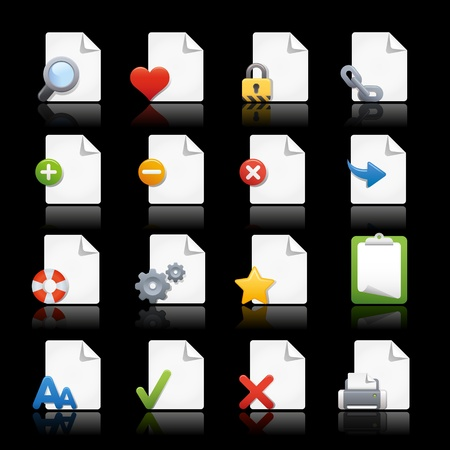 add button: Web Icons - Pages Illustration