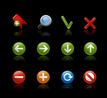 Web Navigation - Gel Black Stock Vector - 13127453