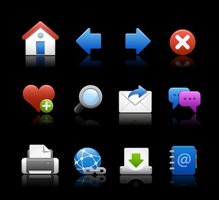 Web Icons - Black Background Vector