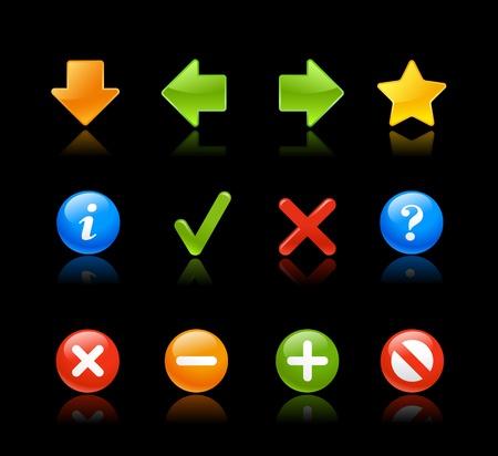 backwards: Glossy Web Icons