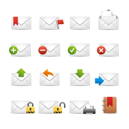 e-mail Icons - Set 2 of 3 -- Soft Series Vector