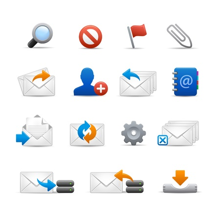 Professional e-mail Icons - Set 3 of 3    Soft Series Stock Vector - 13319681
