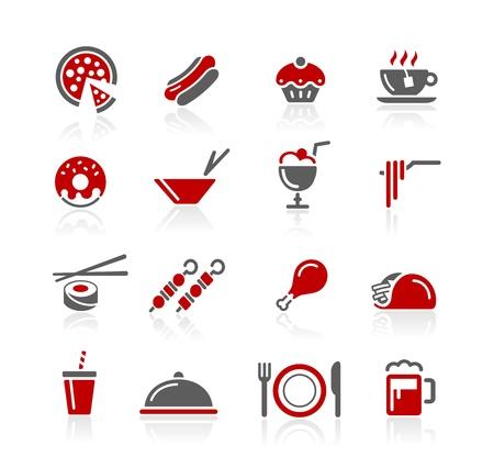 정크 푸드: 음식 아이콘 - Redico 시리즈 일러스트