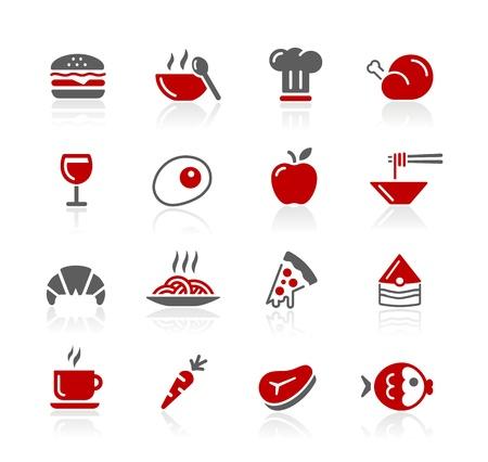 Iconos de alimentos - Set 1 de 2 - Serie Redico Foto de archivo - 13453492