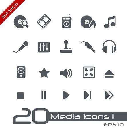 vcr: Media Icons - Basics Stock Photo