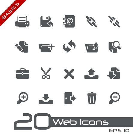 Web Icons - Basics Stock Photo - 13604406