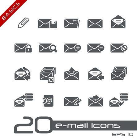e data: E-mail Icons -- Basics Illustration