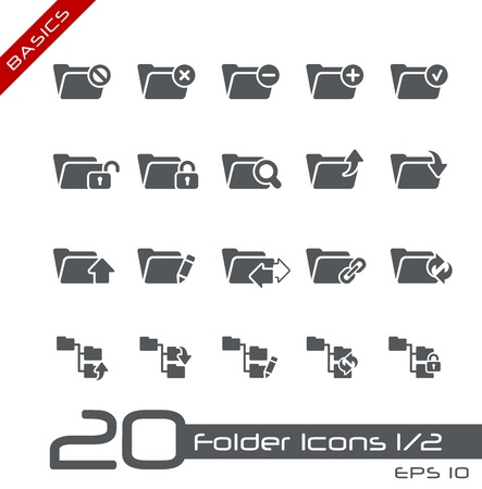Folder Icons - Set 1 of 2 -- Basics Stock Vector - 13786015