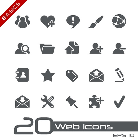 Web Icons - Basics Vetores